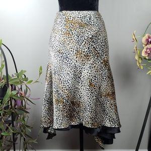 RAM SED Skirt Animal Print Satin Like